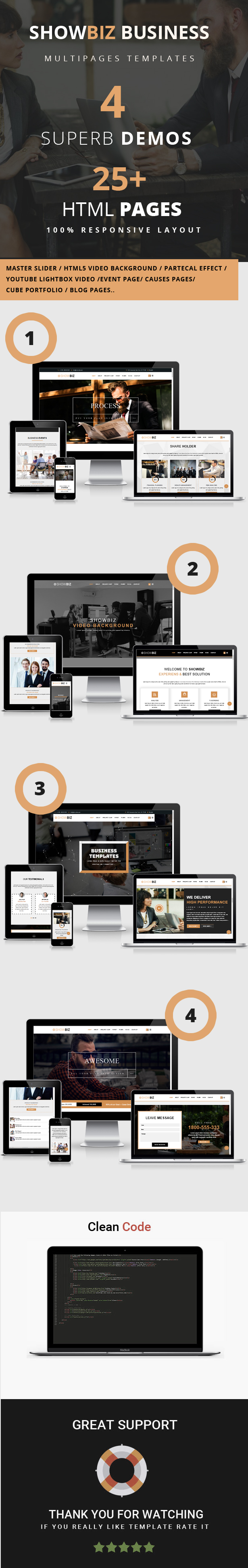 Free Download Themeforest Showbiz - Multipages Business HTML ...